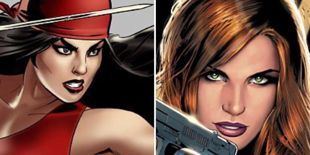 Elektra Viúva Negra luta dublês
