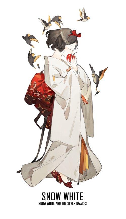 branca de neve kimonos princesas disney