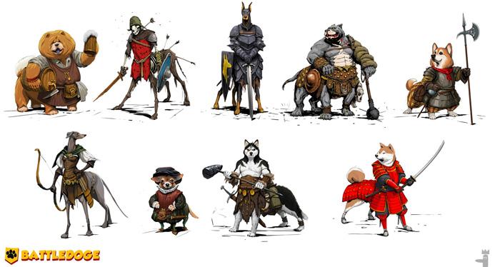 Battledoges, cachorros guerreiros centauros fofinhos