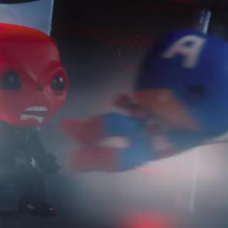 Capitão América vs Caveira Vermelha Funko Pop