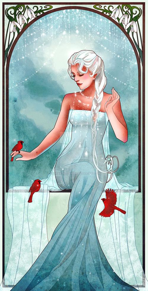 Princesas Disney Art Nouveau por Hanna Alexander